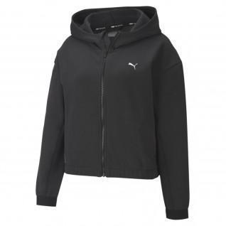 Sweatshirt zippé à capuche femme Puma Train Favorite