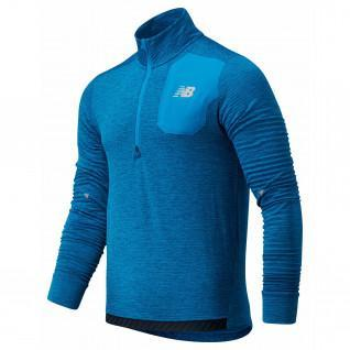 Sweatshirt demi-zip New Balance heat grid