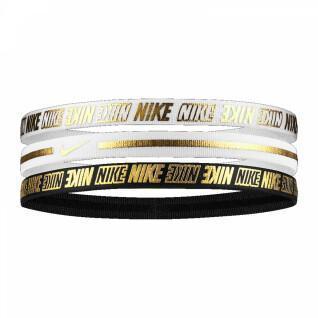 Bandeaux mixtes Nike Metallic x3